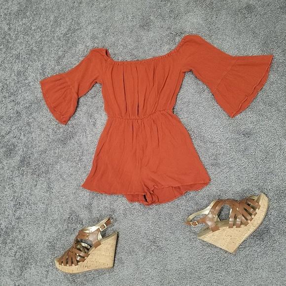 Topshop Dresses & Skirts - Burnt Orange Romper From TopShop Size 2